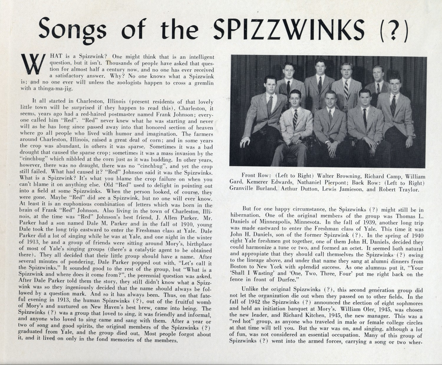 1948 Songs of the Spizzwinks - inside cover left