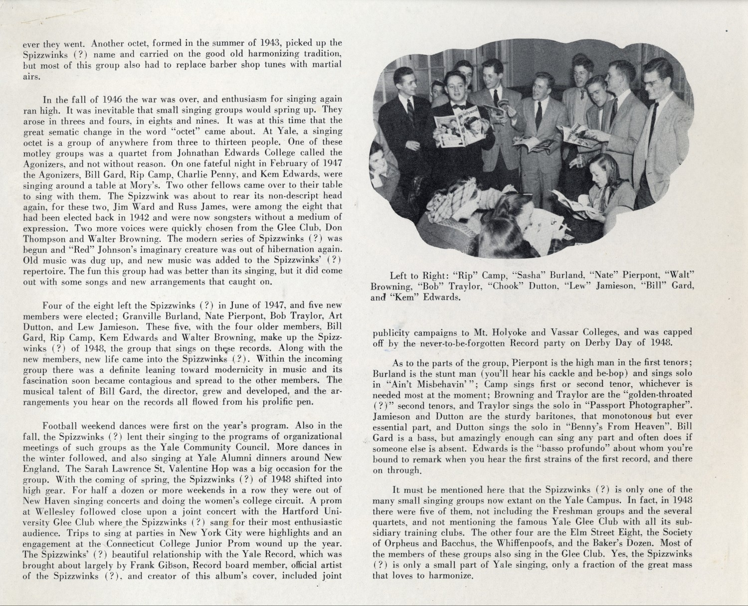 1948 Songs of the Spizzwinks - inside cover right