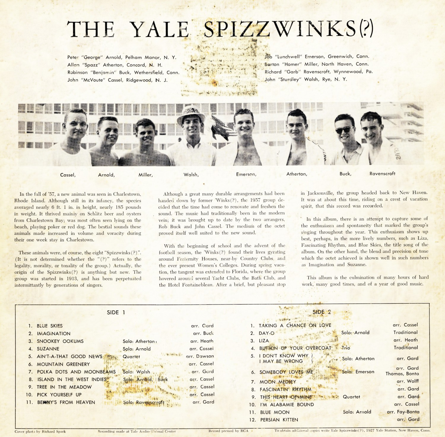 1957 Blue Skies - back cover