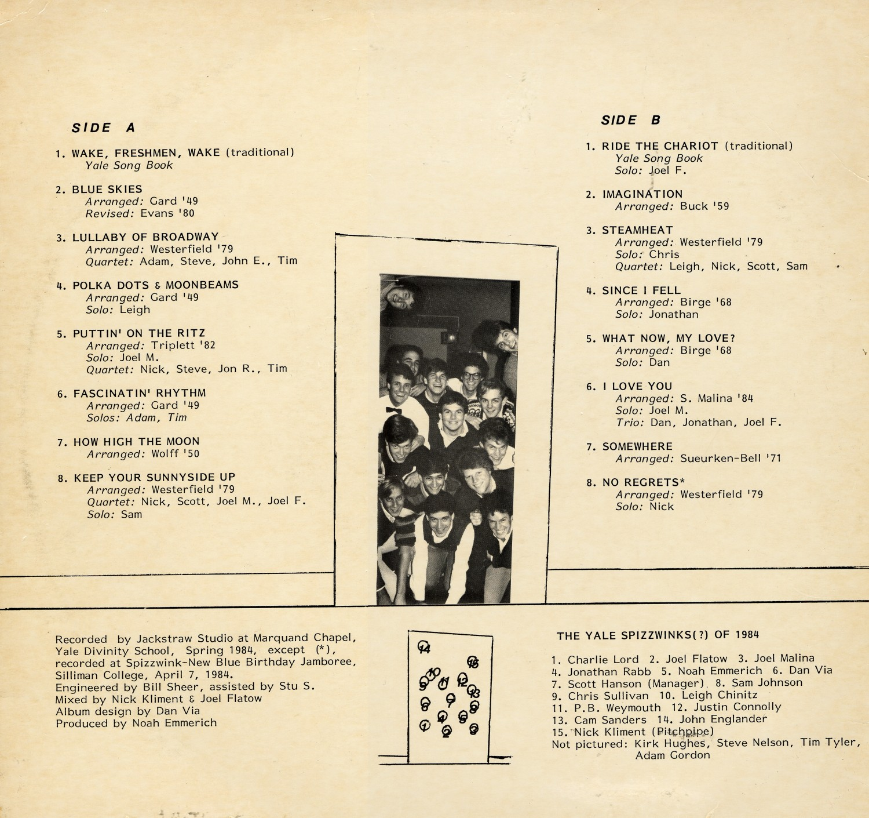1984 No Regrets - back cover