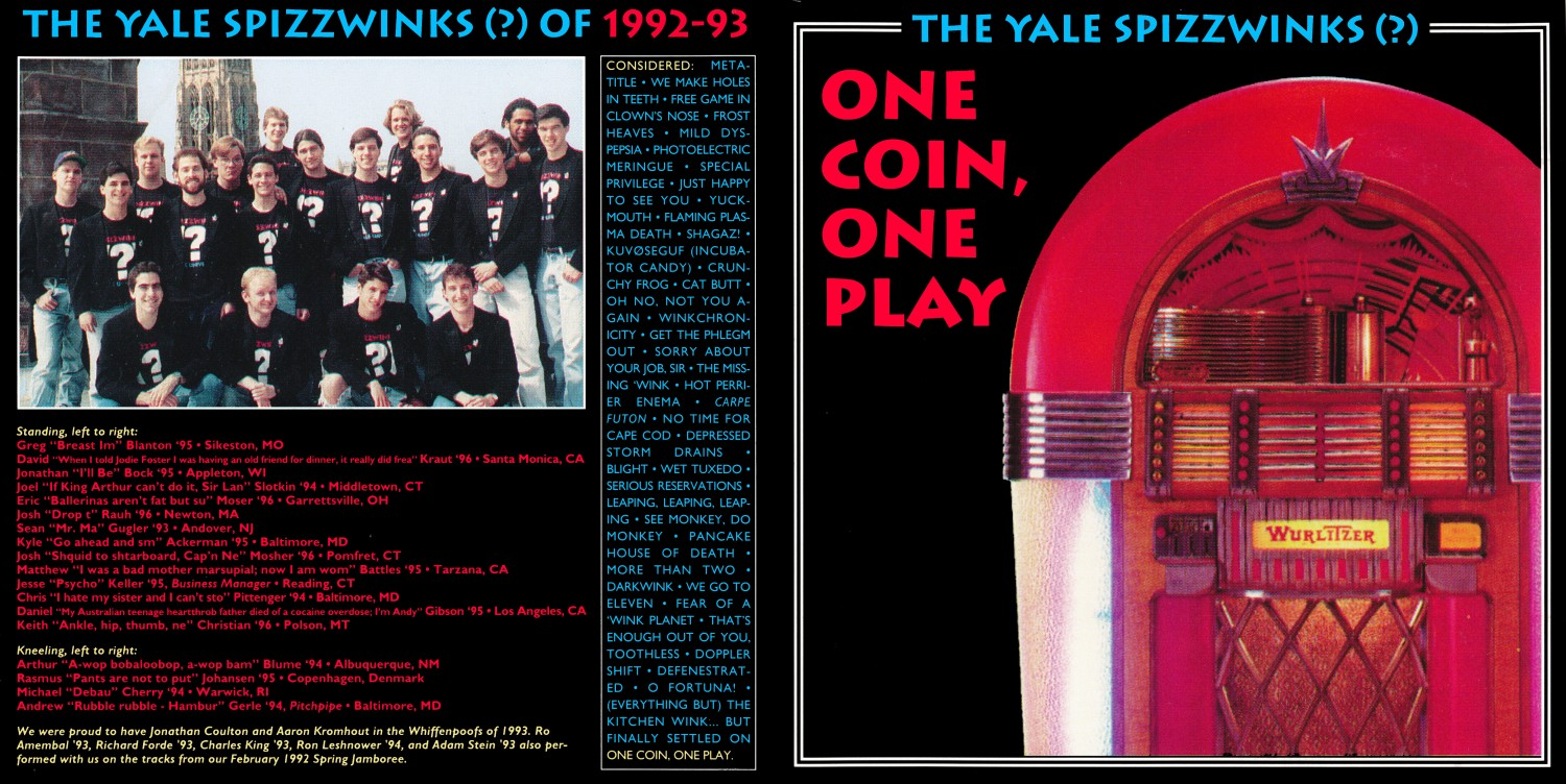 1993 One Coin, One Play - outer spread